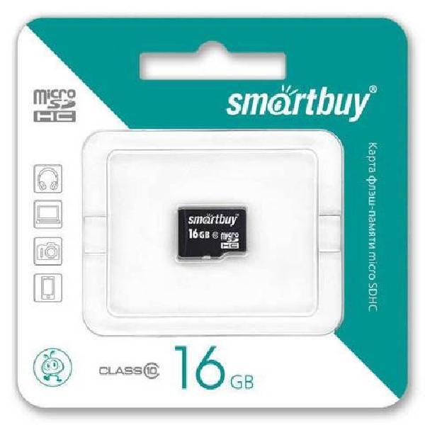 Smartbuy MicroSDHC 16Gb Class 10 (без адаптера SD)