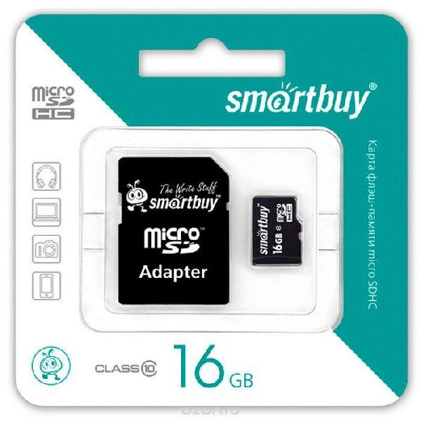 Smartbuy MicroSDHC 16Gb Class 10