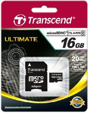 Transcend MicroSD 16Gb Class 10